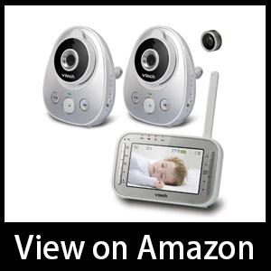 VTech VM342-2 Video Baby Monitor with Night Vision Talk-back Intercom